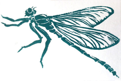 Postkarte: Libelle