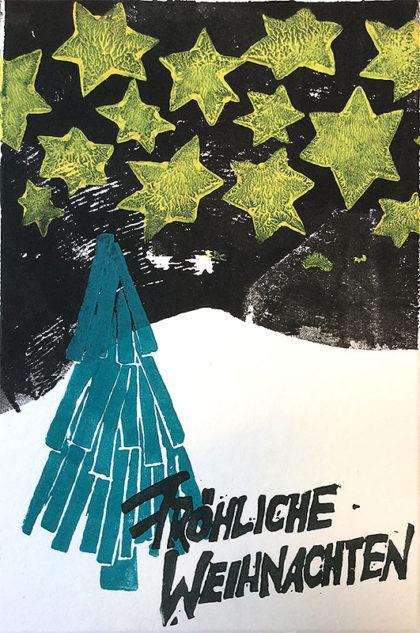 Postkarte: Sternenhimmel