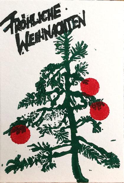 Klappkarte: Weihnachtsgrüße